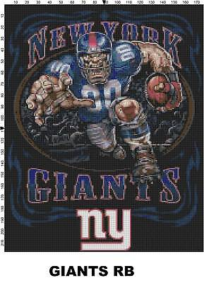 NFL-New-York-Giants-Mascot-cross-stitch-pattern