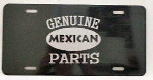 GENUINE-MEXICAN-PARTS-LICENSE-PLATE-FITS-LOWRIDER-CHEVY