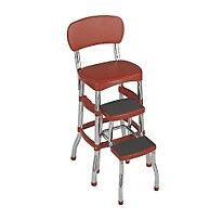 NEW-COSCO-RETRO-RED-STEP-STOOL-CHAIR-BAR-50S-L-K