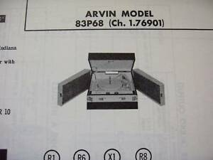 ARVIN-83P68-PHONOGRAPH-PHOTOFACT
