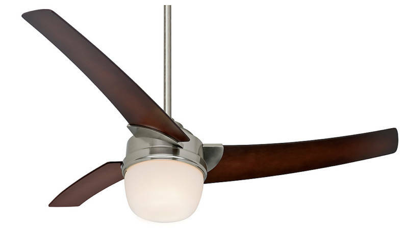 Hunter 54 Eurus Brushed Nickel 3 Blade Remote Control Ceiling Fan 59054