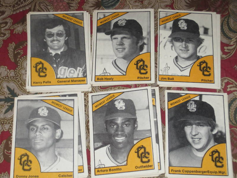 1977 TCMA Quad City Angels complete set of 29