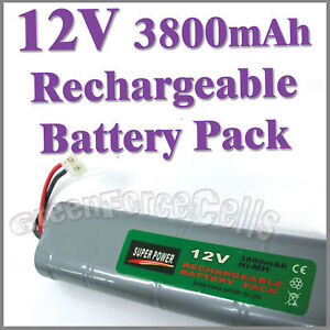 1 pcs 12V 3800mAh Ni-MH Rechargeable Battery Pack