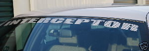 Crown Victoria Police Interceptor Windshield Decal Script P71