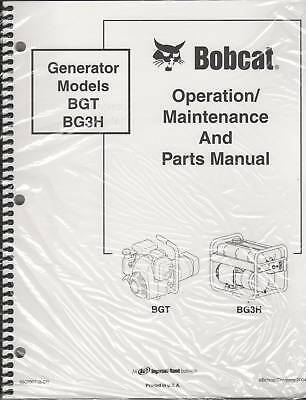 Bobcat Generator Operating ,maintenance & Parts Manual