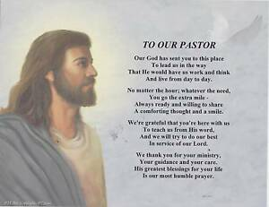 OUR PASTOR Priest Poem Jesus Print Personalized Name ...