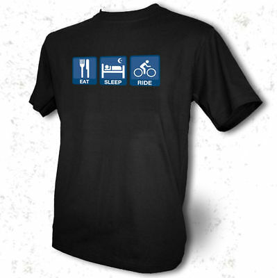 Eat-Sleep-Ride-Mens-Black-T-Shirt-Cycle-mountain-bike