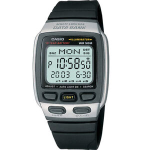 CASIO-DB37H-1A-MENS-30-PAGE-DIGITAL-DATABANK-WATCH-10-YEAR-BATTERY-13-LANGUAGE