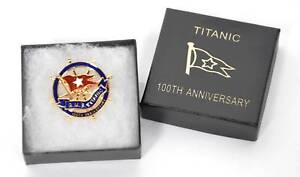 Titanic 100th Anniversary Boxed Badge - ON OFFER AT ONLY £2.99 !