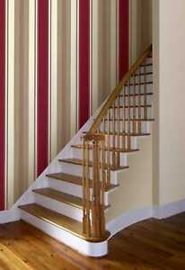 ARTHOUSE OPERA ADELPHI STRIPE RED TEXTURED WALLPAPER