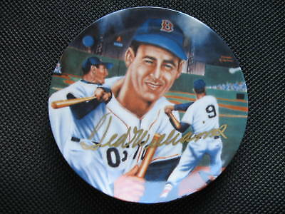 TED WILLIAMS  AUTOGRAPHED SPORTS IMPRESSIONS MINI PLATE