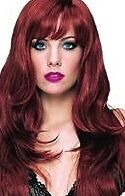 ♥Long Dark Auburn Red Wig♥-Soft ,Sexy & Natural Looking