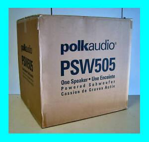 POLK-AUDIO-PSW505-12-POWERED-SUBWOOFER-BLACK-SUB-NEW