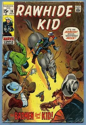 Rawhide Kid #78 1970 Marvel Comics