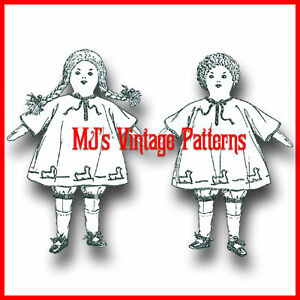 RARE-VERY-OLD-1920s-Rag-Dolls-Pattern