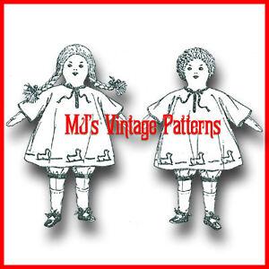 RARE-VERY-OLD-1920s-Rag-Dolls-Pattern