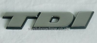 TDI REAR BADGE CHROME FINISH NEW FOR VW TRANSPORTER T4 91>04