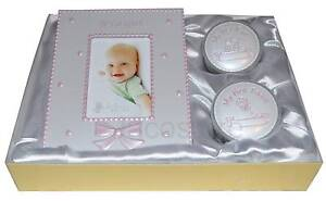 Baby Girl Gift Set, Frame, 1st Curl & Tooth Christening New Born Present