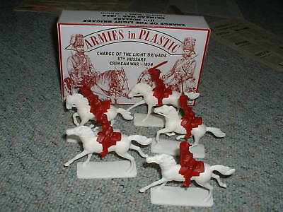 Armies In Plastic 1/32 54mm Box 5518 Charge Of The Light Brigade 11th Hussars
