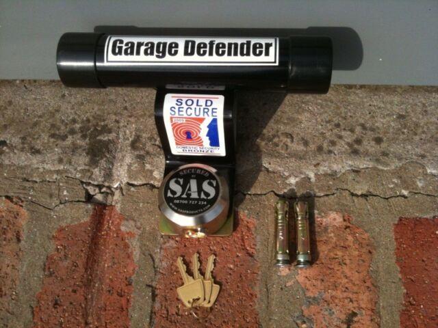 Garage Defender Master Door Lock Motorbike Security Stop Bar Black