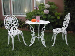 Garden Furniture 3 Piece cast aluminum outdoor patio furniture 3 piece bistro set e