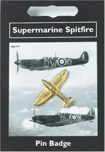 Gold Plated Spitfire Pin Badge