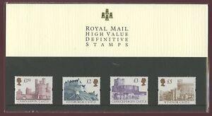 GB QE2 Presentation Pack 1997 CASTLE HIGH VALS £1.50-£5