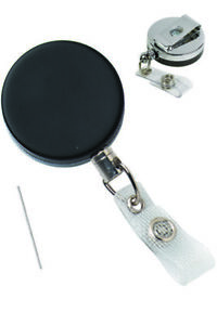 2120-3305 Heavy Duty ID Badge Reels Metal Wire & Clip