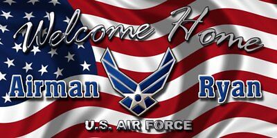 US AIR FORCE WELCOME HOME BANNER POSTER SIGN