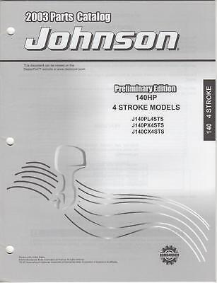 2003 Johnson Outboard 140hp 4-stroke Parts Catalog