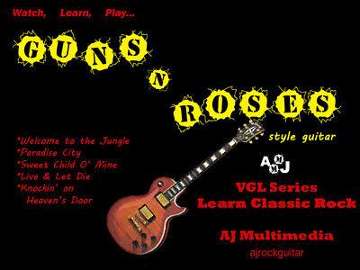Custom Guitar Lessons, Learn Guns N Roses - DVD Video on Rummage