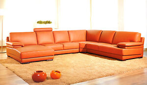Chic-Modern-2227-Orange-Leather-Living-Room-Sectional-Sofa-Contemporary-Style