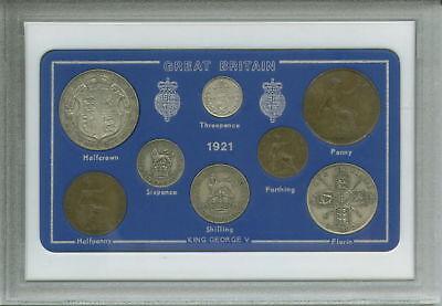 1921 GB Great Britain British Vintage Coin Set (95th Birthday Gift Birth Year)