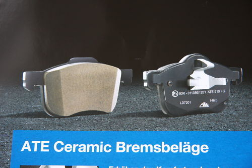 ATE Ceramic Brake Pads With Warning Contact BMW 5 SERIES E39 Touring Front