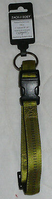 Lot Zack Zoey Padded Nylon Dog Collar 5/8 1 Olive 18-26
