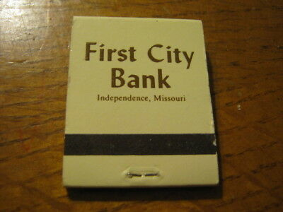 Fcb Since 1857 First City Bank Independence Missouri Matchbook