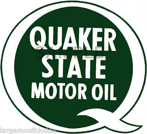 2 inch quaker state vintage style decal sticker for Quaker state motor oil history