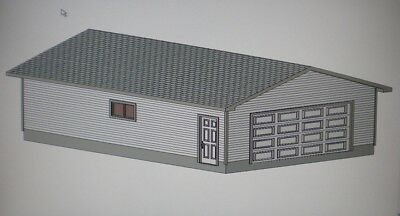 24' X 36' GARAGE SHOP PLANS MATERIAL LIST & BLUEPRINTS