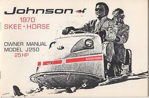 1970 JOHNSON SKEE-HORSE SNOWMOBILE OWNERS MANUAL 25HP   quality assurance