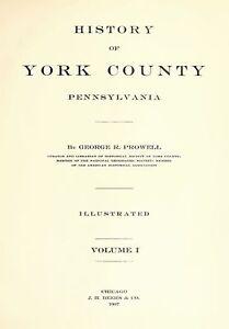 2Vol-1907-Genealogy-History-York-County-Pennsylvania-PA