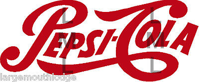 PEPSI LOGO SCRIPT RED DECAL 2 INCH GUMBALL MACHINE
