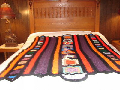 Acrylic Very Complex Pattern Handmade Handcrafted Crochet Afghan Throw Blanket