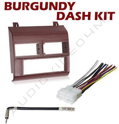 Chevy Gmc Silverado 88-94 Burgundy Radio Dash Kit Combo