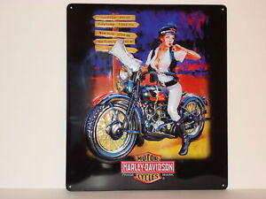 Harley-Davidson-Fifties-TRAVEL-Pinup-girl-Sportster-Softail-Fatboy-XR750