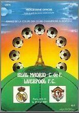 * 1981 EUROPEAN CUP FINAL - LIVERPOOL v REAL MADRID *