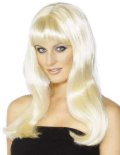 Ladies Mystique Fancy Dress Wig Blonde Hen Party Wig by Smiffys New