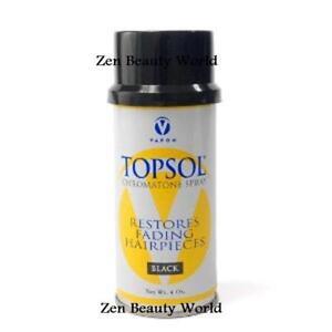 vapon topsol temporary black hair spray 4oz ebay
