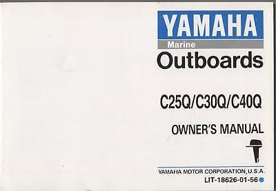 1992 Yamaha Outboard C25q/c30q/c40q Owners Manual