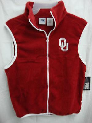 Youth Oklahoma University Fleece Vest Size 14/16 Burgundy