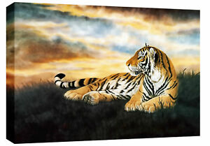 LARGE-TIGER-PAINTING-CANVAS-WALL-ART-PICTURE-30-x-20